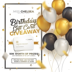 birthday gift card giveaway poster